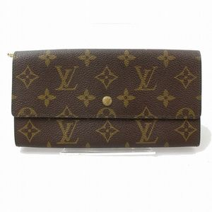 💯 Auth Louis Vuitton Portefeuille Sarah Monogram